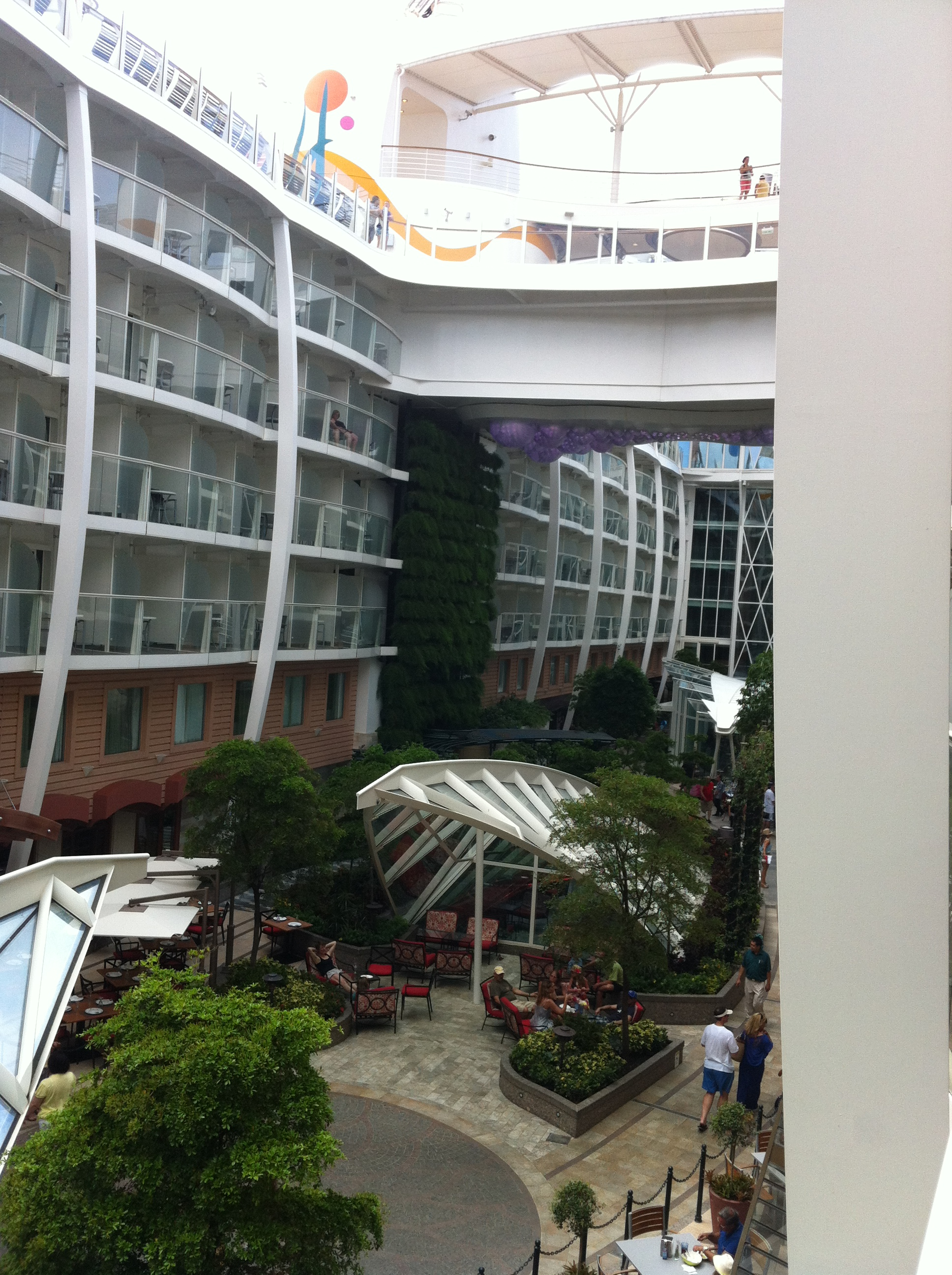 Royal caribbean allure of the seas cruise review for cabin for Balcony view on cruise
