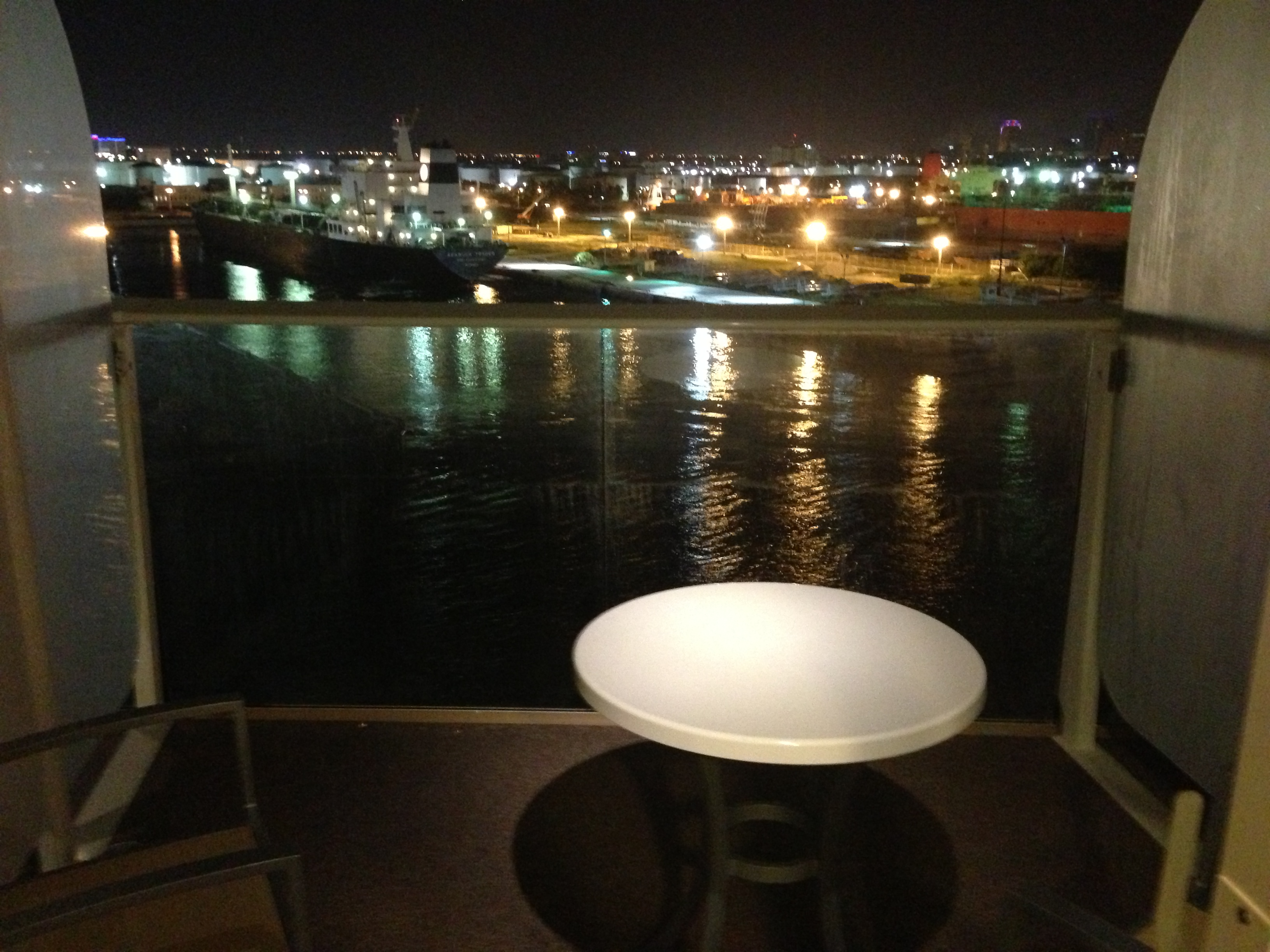 Royal caribbean oasis of the seas cruise review for cabin 9604 for Balcony at night