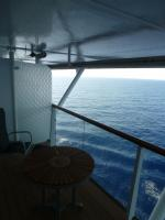 Celebrity solstice cruise review for cabin 2126 for Balcony overhang