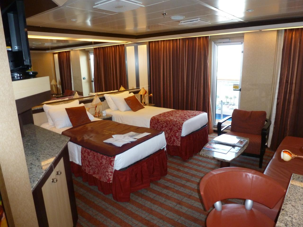 Carnival Dream Cabin 6464 Bed Couch And Dressing Area