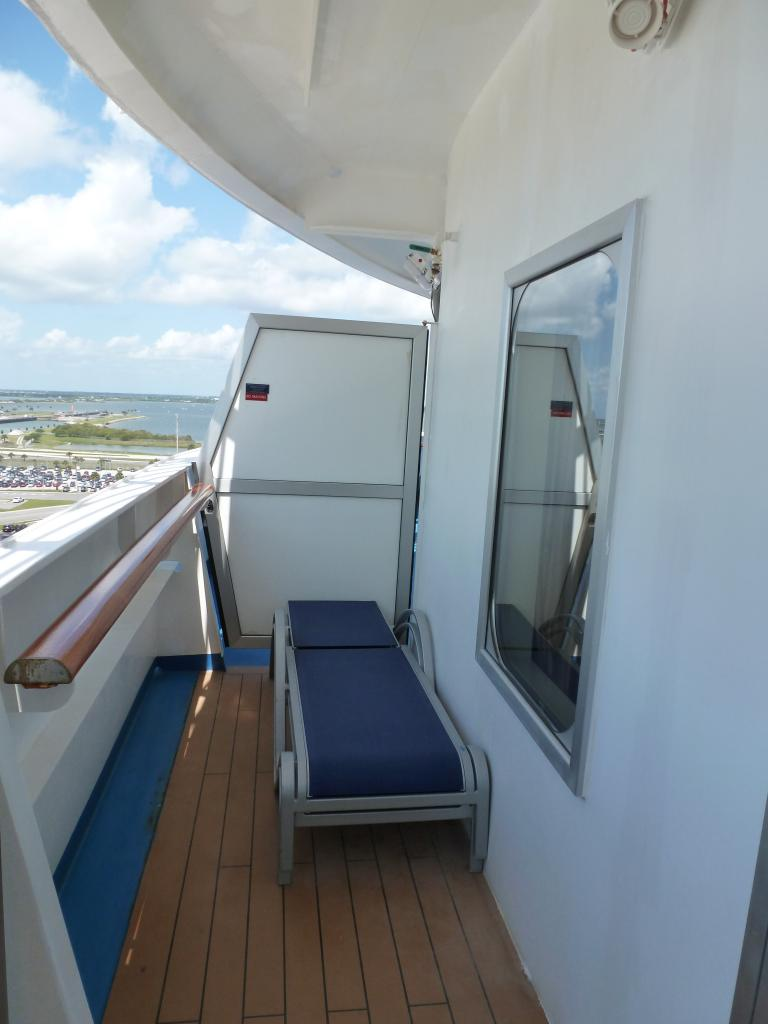 Carnival dream cruise review for cabin 11206 for Cruise balcony
