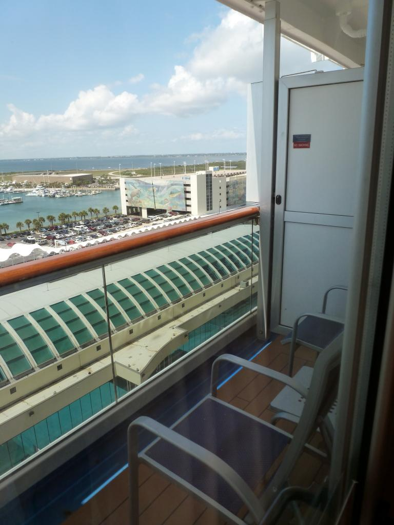 Balcony table and chair for Balcony on carnival cruise