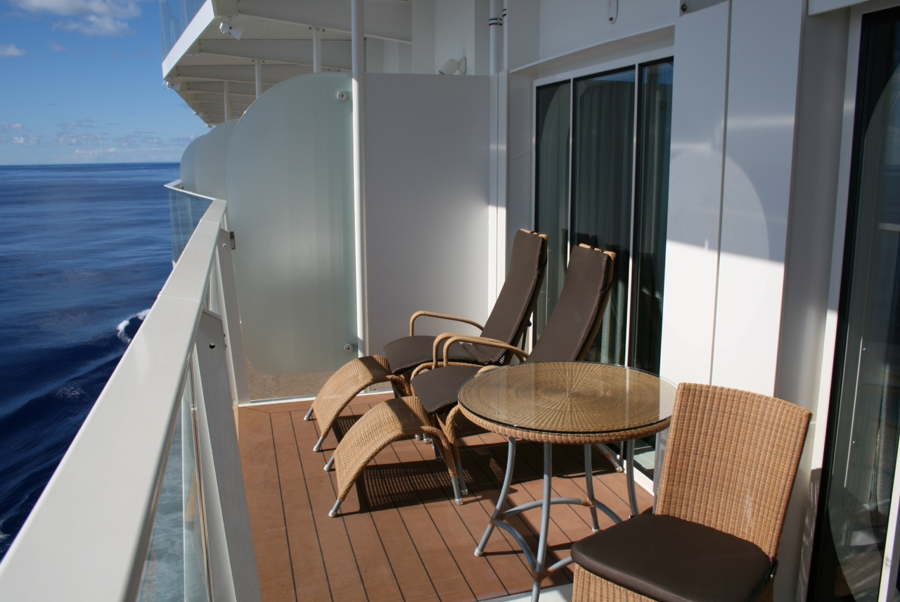 Royal caribbean allure of the seas cruise review for cabin for Cruise balcony pictures